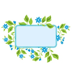 light blue frame with flora vector image vector image