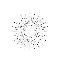 linear drawing of rays of the sun in vintage style vector image