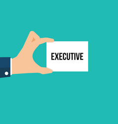 man showing paper executive text vector image
