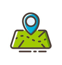 Map line color icon vector