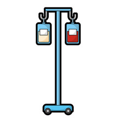 Medicine and blood bags hanging vector