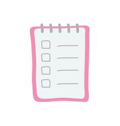 Memo pad icon flat style vector