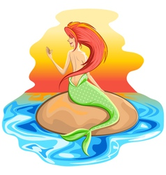 Mermaid Siren Mythological Creature vector image