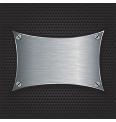 Metal texture plate with screws vector