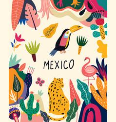 mexico poster vector image