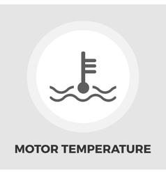 Motor temperature flat icon vector