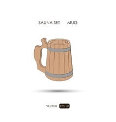 Mug Sauna accessories on a white background vector image
