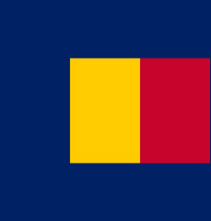 National flag chad with official colors vector