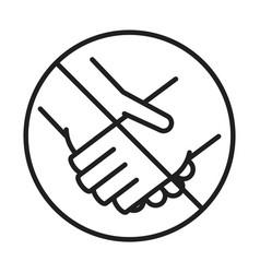new normal avoid handshaking after coronavirus vector image