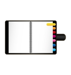 Notebook with cover icon image vector