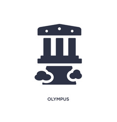 Olympus icon on white background simple element vector