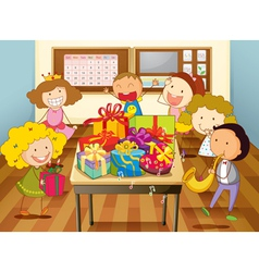 Party classroom vector image vector image