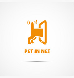 pet in net vector image