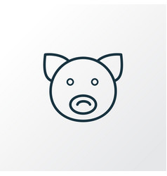 pig icon line symbol premium quality isolated vector image