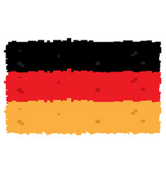 Pixelated flag of germany vector