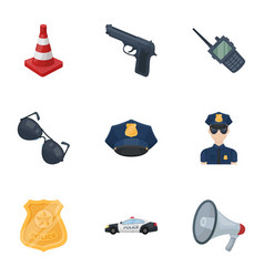police equipment police prisoners protection of vector image