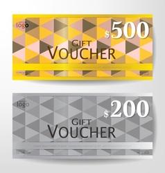 Premium Gift Voucher Graphic Template vector image
