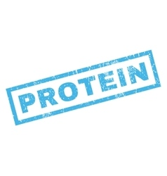 Protein Rubber Stamp vector image vector image