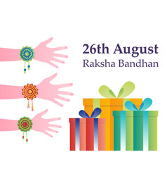 Raksha bandhan concept colorful vector