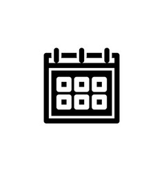 schedule icon with glyph style icon set vector image