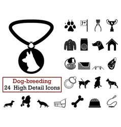 Set of 24 dog-breeding vector