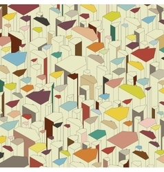 Set of colored abstract houses vector image