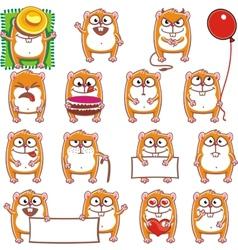 Smiley hamsters vector