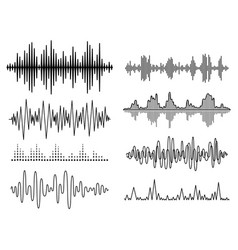 Sound waves set audio player audio vector