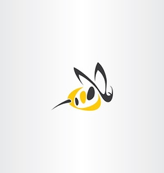 Stylized wasp icon logo sign vector