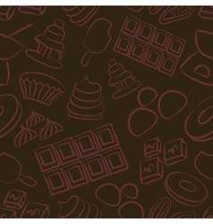 sweet chocolate doodle sketch icons seamless vector image