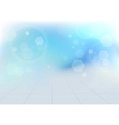 Transparent bokeh vibrant blue background vector