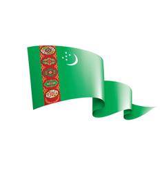 Turkmenistan flag on a white vector