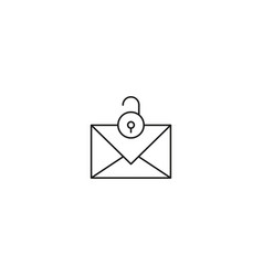 Unlocked mail icon vector