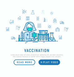 Vaccination concept doctor with vaccine vector