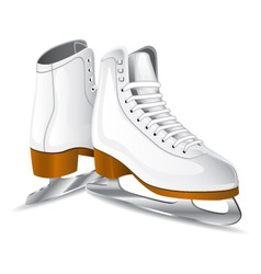 Vector white figure skates vector
