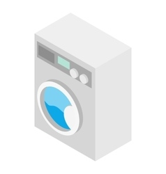 Washer isometric 3d icon vector
