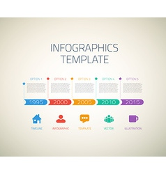 Web Infographic Timeline Arrows Template Layout vector image