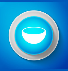 white bowl icon isolated on blue background vector image
