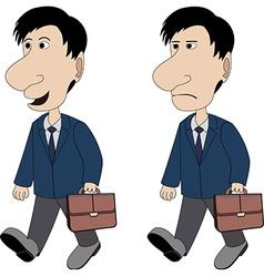 a man with a briefcase vector image vector image
