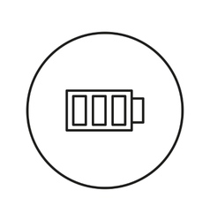 Full battery icon vector