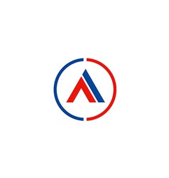 letter A business company symbol logo vector image vector image