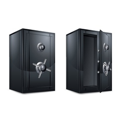 metal bank safes vector image vector image