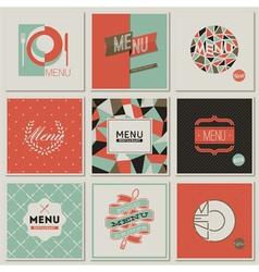 Restaurant menu designs - retro-styled collection vector image