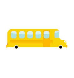 school bus cartoon style transport on white vector image