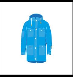 snowboarding jacket flat icon isolated vector image