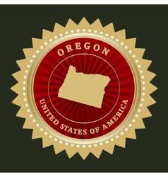 Star label Oregon vector image vector image