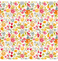 watercolor abstract floral pattern vector image