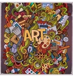 Cartoon cute doodles hand drawn vector image vector image