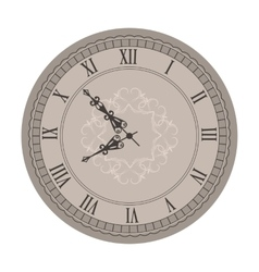 Old Clock with Vignette Arrows vector image