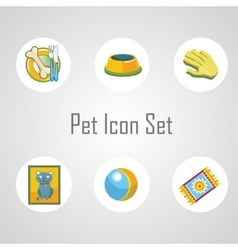 Pet icons set vector image vector image